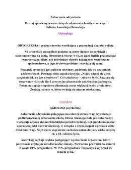 referaty dot. zaburzenia odżywiania