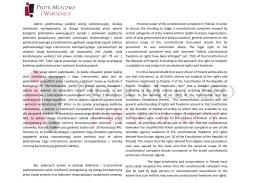 Tłumaczenie publikacji omawiającej tematykę skargi konstytucyjnej
