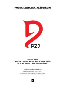 D_regulamin 2015_2 - Polski Związek Jeździecki