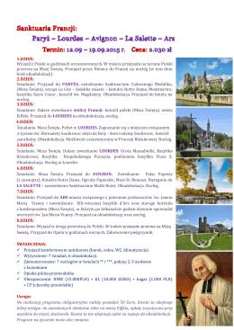 Sanktuaria Francji 2015