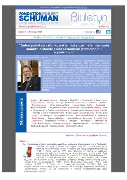 Biuletyn w formacie PDF - La Fondation Robert Schuman