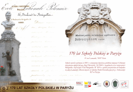 170 lat Szkoły Polskiej w Paryżu