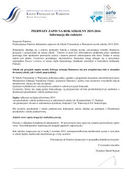 Lettre élégante Canada - Lycée Français de Varsovie
