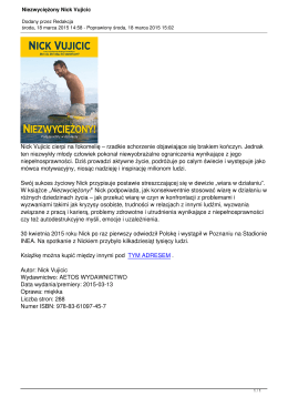 Niezwyciężony Nick Vujicic - Damy