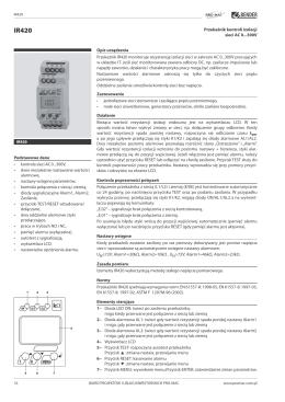 IR420 - przekaźnik kontroli stanu izolacji firmy Bender - Pro-mac