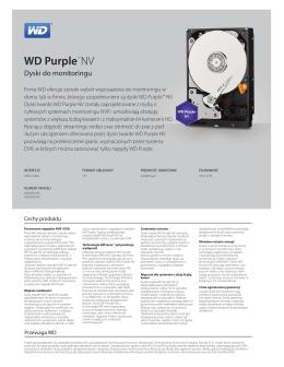 Dokumentacja techniczna dysków z serii WD Purple