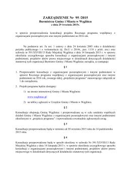 ZARZĄDZENIE Nr 95 /2015 - Węgliniec, Urząd Miasta i Gminy