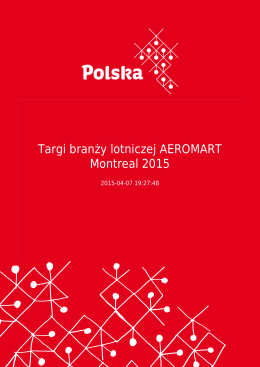 Targi branży lotniczej AEROMART Montreal 2015