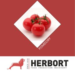 Broszura z maszynami do obróbki pomidorów