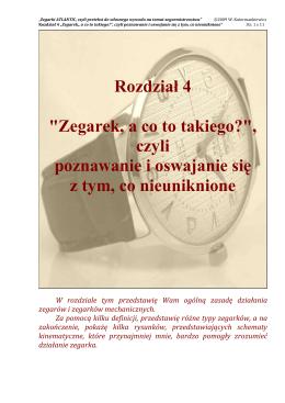 04 ROZDZIA£ 4 - ``Zegarek, a co to takiego``, czyli poznawanie i