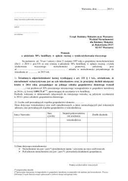 wniosek o bonifikatę _osoby fizyczne_2015Mokotów