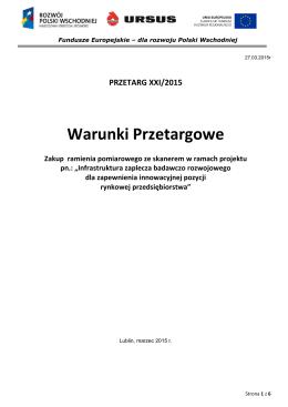 Warunki Przetargowe