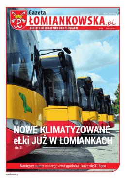 Gazeta Łomiankowska.pl nr 78 z 10 lipca 2015 (pdf 14,8 MB)