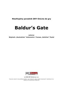 Poradnik Gry-OnLine do gry Baldur`s Gate