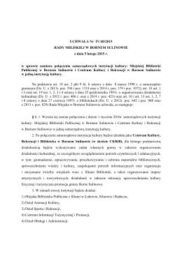 uchwała Nr IV-40-2015 z 5 02 2015 r  w spr zamiaru połączenia inst
