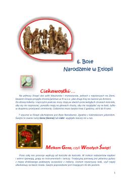 6. Boże Narodzenie w Etiopii