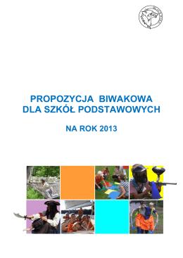 Oferta 2013 - szkoły podstawowe net
