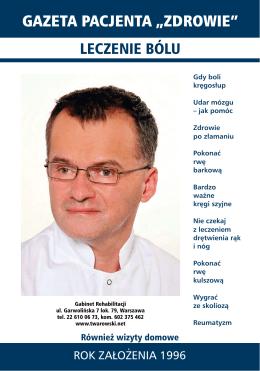 gazeta pacjenta - Leczenie Bólu Kręgosłupa Warszawa Ból Barku