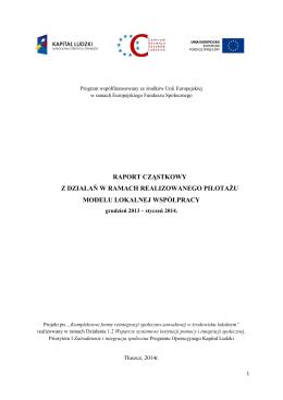 raport mlw 1 - Ośrodek Pomocy Społecznej w Tłuszczu