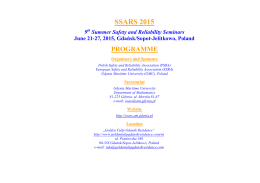 SSARS 2015-Programme
