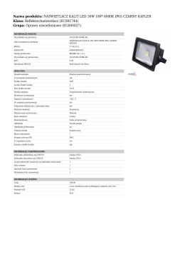 NAŚWIETLACZ KALIT LED 30W 180* 6000K IP65 CZARNY