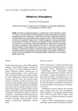 Fiałkowski W. - Widelnice (Plecoptera)