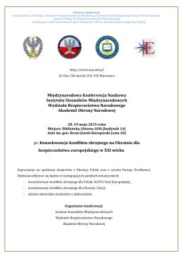 Program konferencji w języku polskim