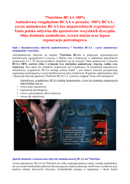 7Nutrition BCAA 100% Aminokwasy rozgałęzione BCAA w proszku