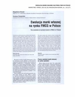Ewolucja marki własnej na rynku FMCG w Polsce