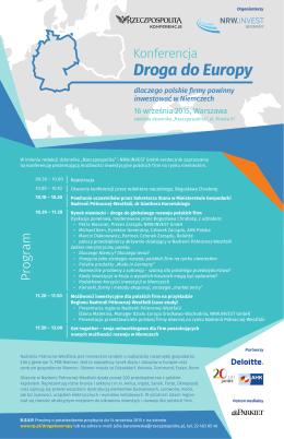 Droga do Europy - Konferencje