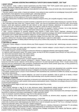 01 Warunki Uczestnictwa 2015 - Biuro podróży Test Tour Kraków