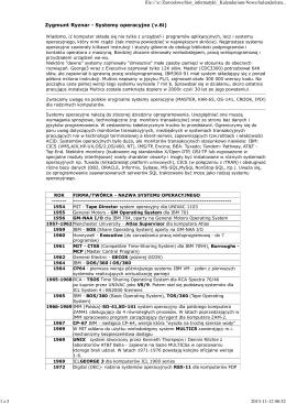Chronologiczne zestawienie systemów operacyjnych