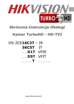 DS-2CE16C2T – IR 56C5T IT . . D1T VFIR . . D5T VFIT . . . . T