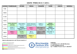 GRAFIK FITNESS OD 21.11.2015 r.