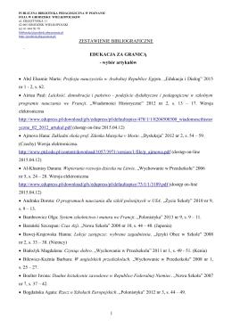 Edukacja za granicą - Publiczna Biblioteka Pedagogiczna w Poznaniu