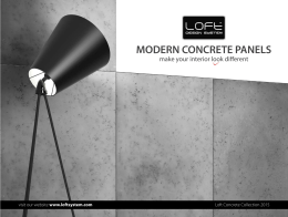 MODERN CONCRETE PANELS