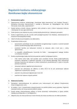 Regulaminem Konkursu - Olimpiada Przedsiębiorczości