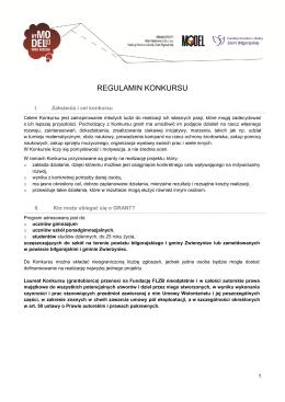 regulamin konkursu - Fundacja Fundusz Lokalny Ziemi Biłgorajskiej
