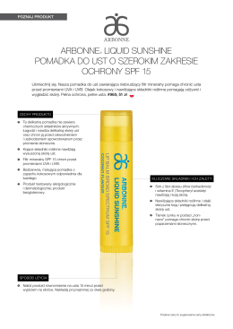 arbonne® liquid sunshine pomadka do ust o szerokim zakresie