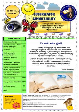 obserwator gimnazjalny - Zespół Szkół w Pierzchnicy