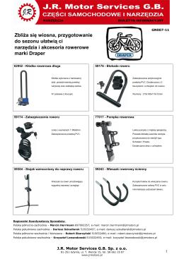 GN007-11 - DRAPER - Narzędzia i akcesoria rowerowe