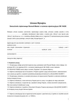Umowa Wynajmu - WYNAJMIJGO24.PL