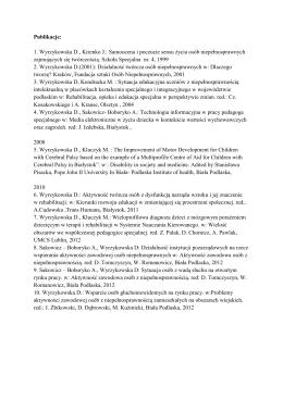 Lista publilacji