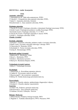 DIETETYKA - studia licencjackie I Rok Anatomia człowieka 1