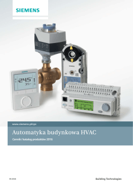 Automatyka budynkowa HVAC - Building Technologies