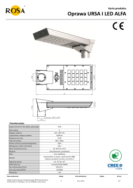 Karta produktu Oprawa URSA I LED ALFA