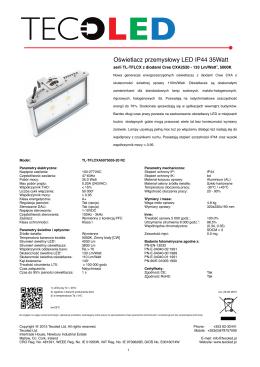 Oświetlacz przemysłowy LED IP44 35Watt