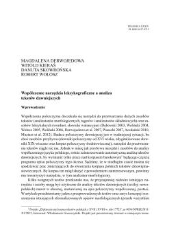M. Derwojedowa, W. Kieraś, D. Skowrońska, R. Wołosz