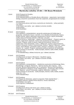 wycieczka szkolna 10dni/659PLN