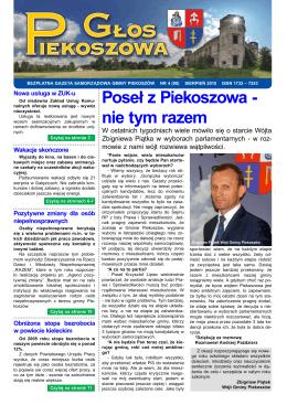 Poseł z Piekoszowa - nie tym razem